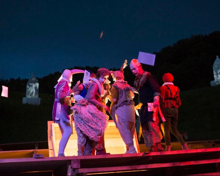 Morgartenspektakel, Freilichttheater und Bühne